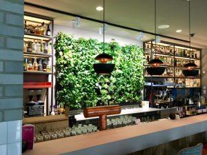 Beleuchtung einer vertikal begrünten Pflanzenwand